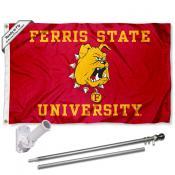 FSU Bulldogs Flag and Bracket Flagpole Kit
