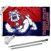 FSU Bulldogs Logo Flag and Bracket Flagpole Kit