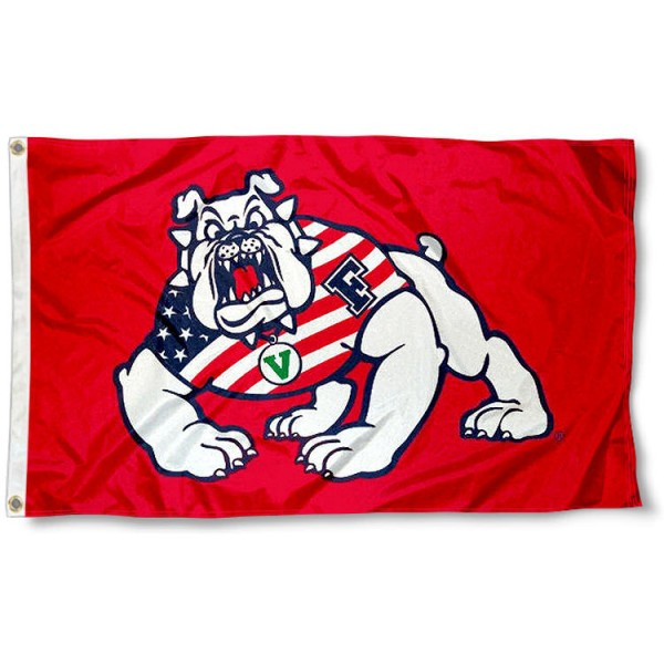 FSU Bulldogs USA Flag Waving Logo Flag