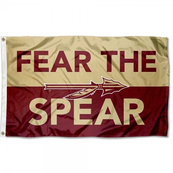 FSU Seminoles Fear The Spear Outdoor Flag