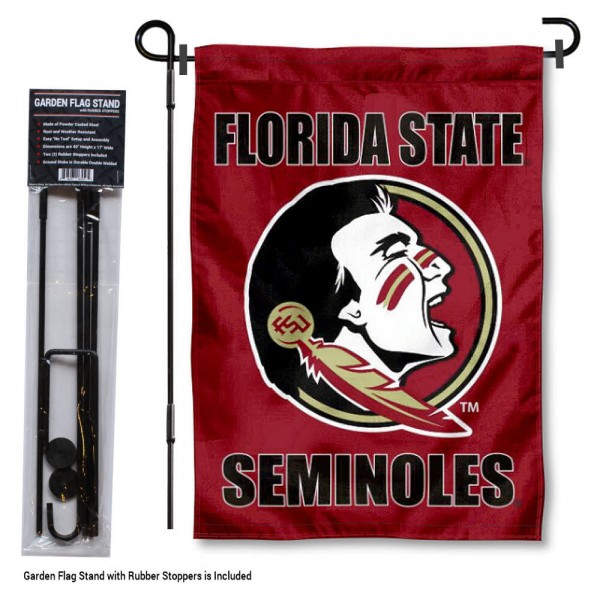 FSU Seminoles Garden Flag and Holder