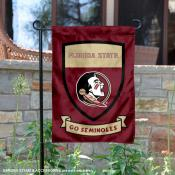 FSU Seminoles Shield Garden Flag