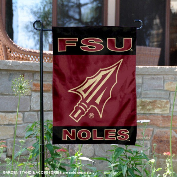 FSU Seminoles Spearhead Logo Garden Flag