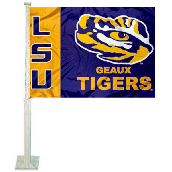 Geaux LSU Tigers Car Flag