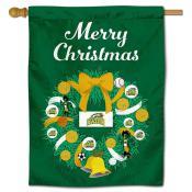 George Mason Patriots Christmas Holiday House Flag