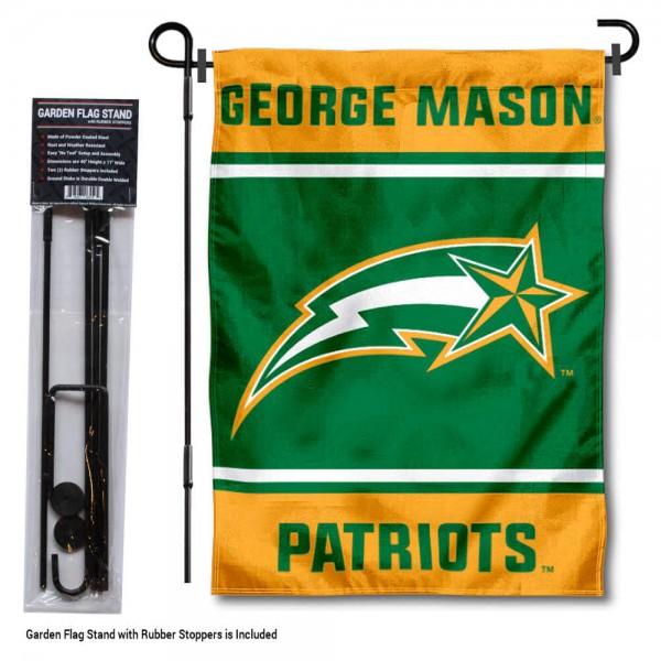 George Mason University Garden Flag and Yard Pole Holder Set