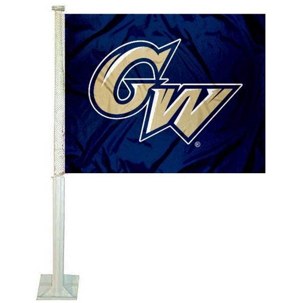 George Washington GW Colonials Car Flag