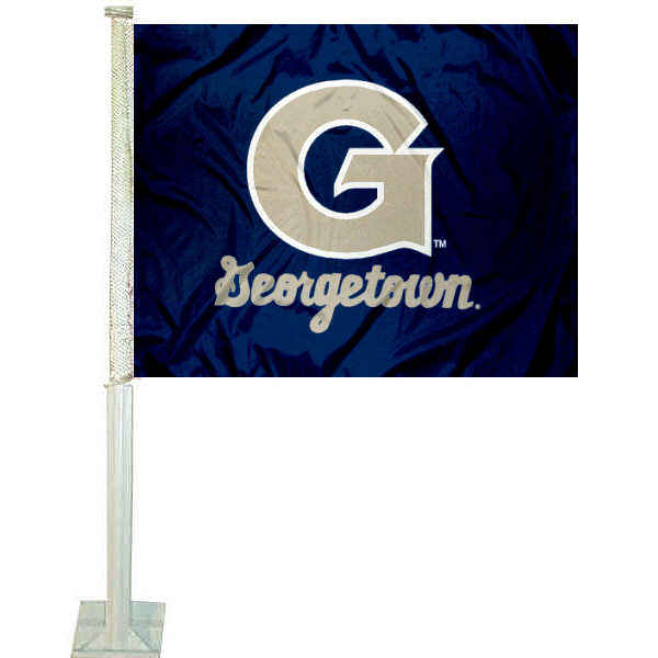 Georgetown Hoyas Car Flag