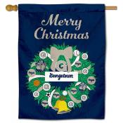 Georgetown Hoyas Christmas Holiday House Flag