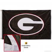 Georgia Bulldogs Appliqued Nylon Black Flag
