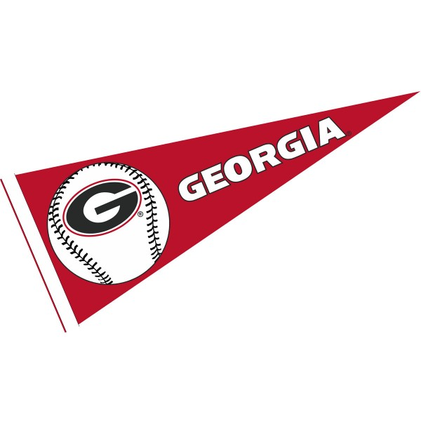Georgia Bulldogs Baseball College Pennant