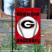 Georgia Bulldogs Baseball Garden Flag