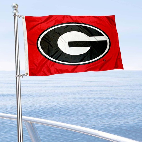 Georgia Bulldogs Boat Flag
