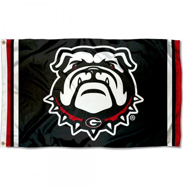 Georgia Bulldogs Dawg Logo Flag