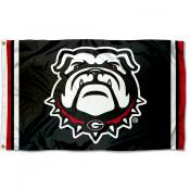 Georgia Bulldogs Dawg Logo Flag