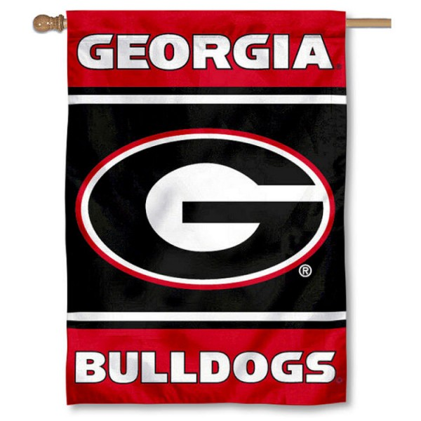 "Georgia Bulldogs ""G"" Double Sided House Banner Flag"