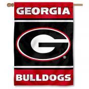 "Georgia Bulldogs ""G"" Double Sided House Banner Flag"