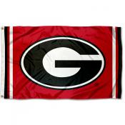 "Georgia Bulldogs ""G"" Logo Red Flag"