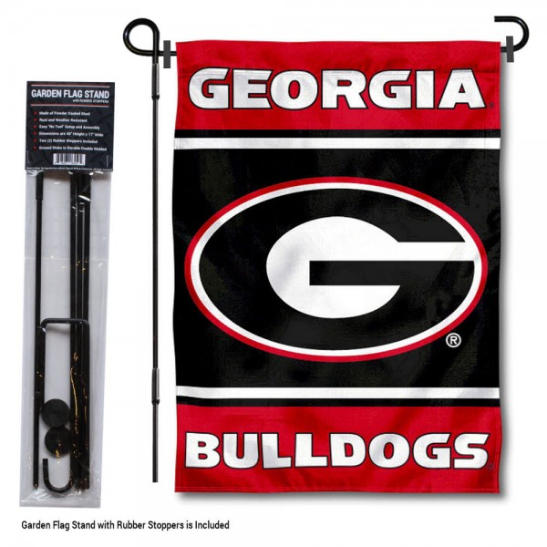 Georgia Bulldogs Garden Flag and Holder