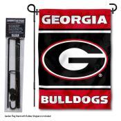 Georgia Bulldogs Garden Flag and Holder