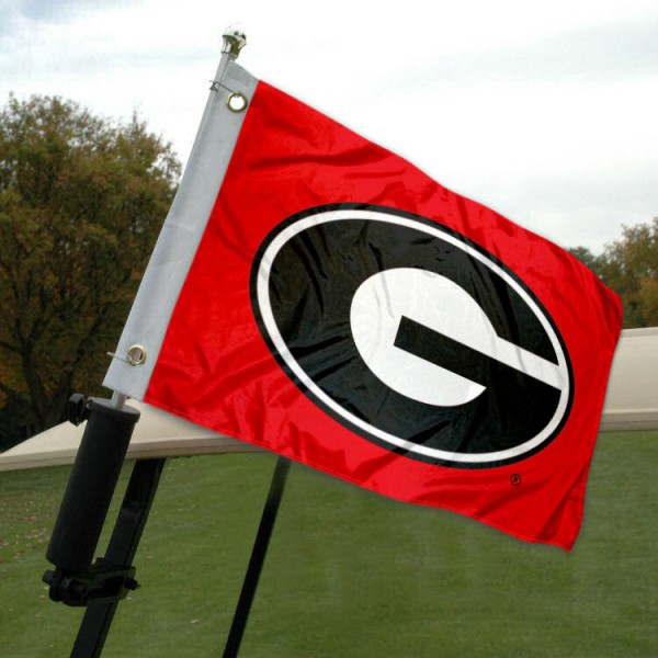 Georgia Bulldogs Golf Cart Flag