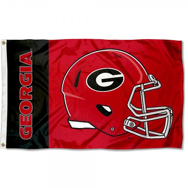Georgia Bulldogs Helmet Flag