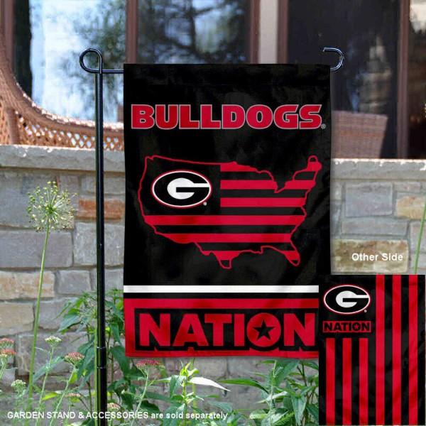 Georgia Bulldogs Nation Garden Flag