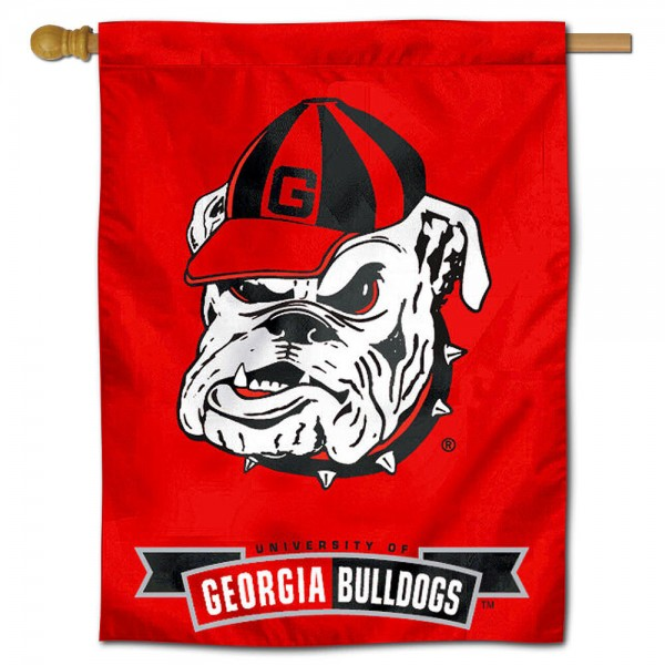 Georgia Bulldogs Polyester House Flag