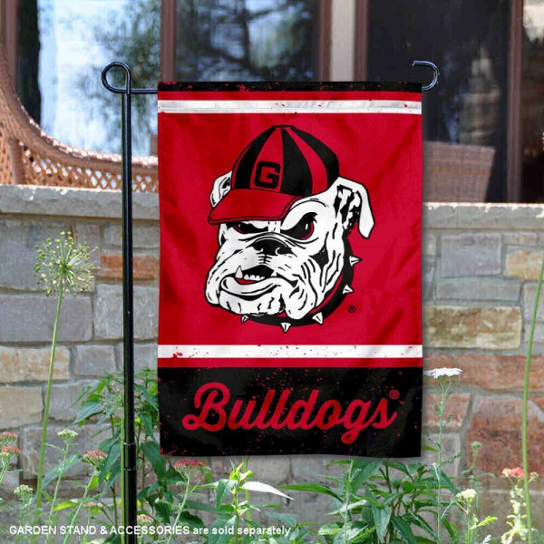 Georgia Bulldogs Retro Throwback Garden Banner
