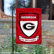 Georgia Bulldogs Shield Garden Banner