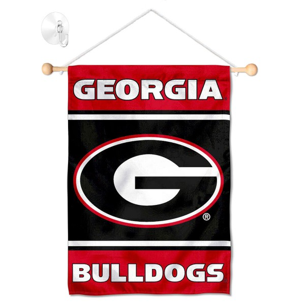 Georgia Bulldogs Window Hanging Banner with Suction Cup