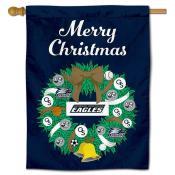 Georgia Southern Eagles Christmas Holiday House Flag