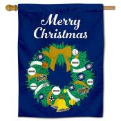Georgia Southwestern State Hurricanes Christmas Holiday House Flag