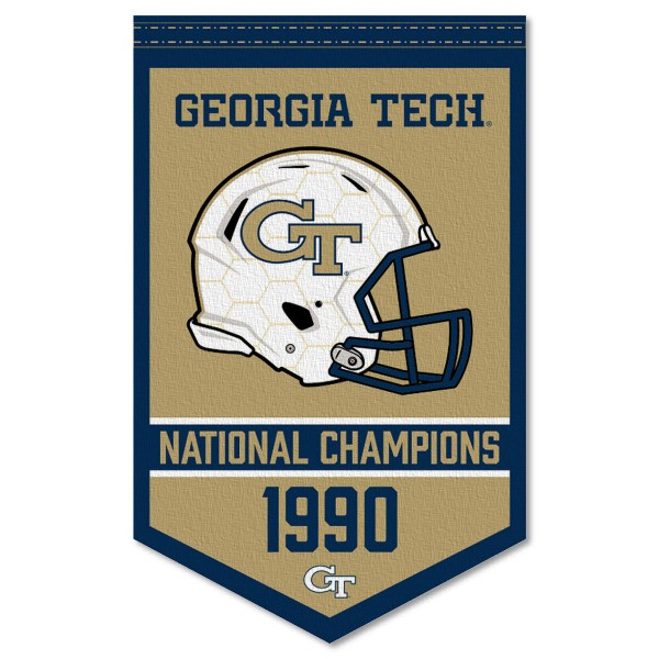 Georgia Tech College Football National Champions Banner