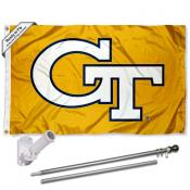 Georgia Tech Flag and Bracket Flagpole Set