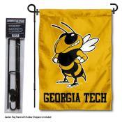 Georgia Tech Garden Flag and Holder