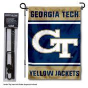 Georgia Tech Garden Flag and Yard Pole Holder Set