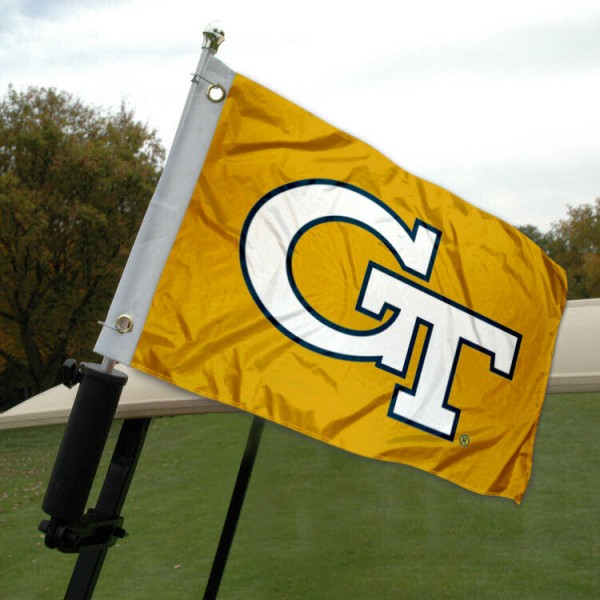 Georgia Tech Golf Cart Flag
