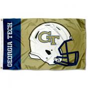 Georgia Tech Helmet Flag