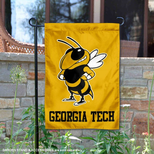 Georgia Tech Yellow Double Sided Garden Flag