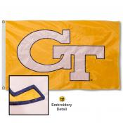 Georgia Tech Yellow Jackets Appliqued Sewn Nylon Flag