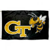 Georgia Tech Yellow Jackets Black Jacket 3x5 Foot Flag