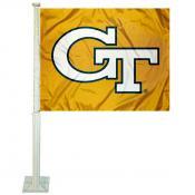 Georgia Tech Yellow Jackets Gold Logo Car Flag
