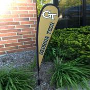 Georgia Tech Yellow Jackets Mini Teardrop Garden Flag