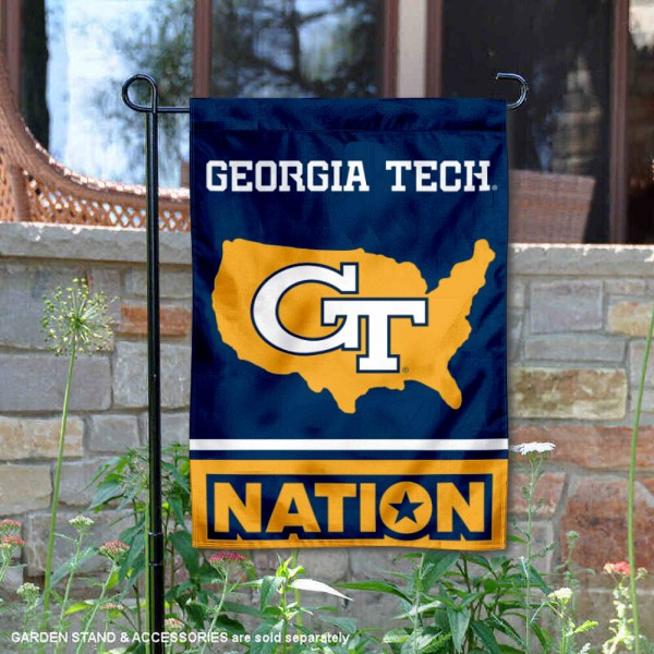Georgia Tech Yellow Jackets Nation Garden Flag