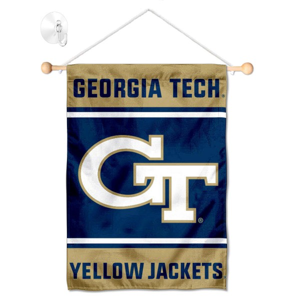 Georgia Tech Yellow Jackets Window Hanging Banner with Suction Cup