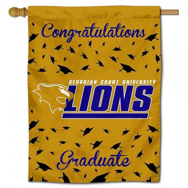 Georgian Court Lions Graduation Banner