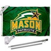 GMU Patriots Flag and Bracket Flagpole Kit