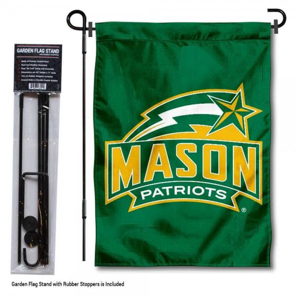 GMU Patriots Garden Flag and Holder
