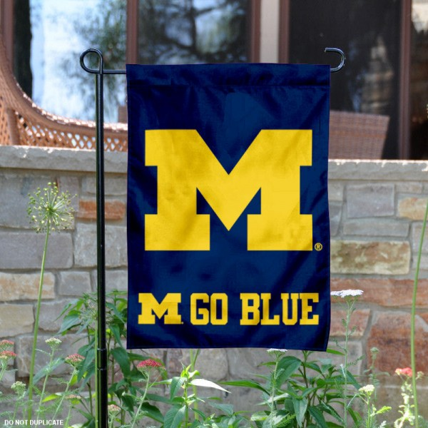 Go Blue Michigan Garden Flag